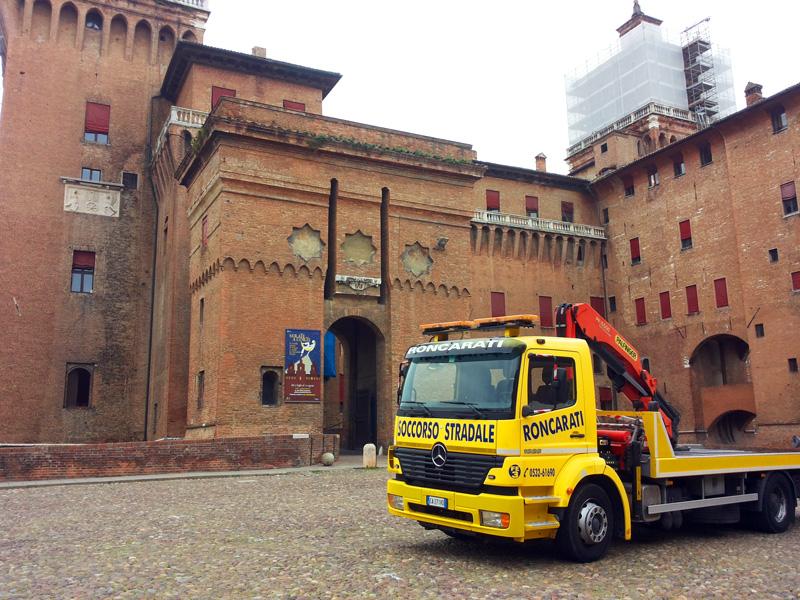 soccorso stradale a ferrara castello estense